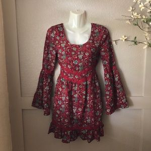 Band of Gypsies- red hobo top/dress